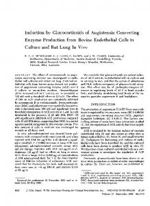 Induction by Glucocorticoids of Angiotensin Converting - Europe PMC