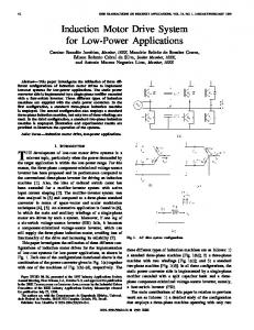Induction Motor Drive System For Low-Power Applications - IEEE Xplore