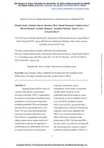 Induction of airway allergic inflammation by ...