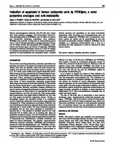 Induction of apoptosis in human leukaemic cells by ... - Europe PMC