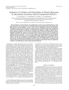Induction of Cytokines and Chemokines in Human Monocytes by ...
