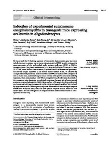 Induction of experimental autoimmune ... - Wiley Online Library