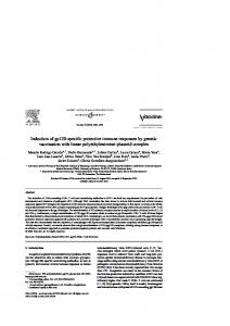 Induction of gp120-specific protective immune responses by ... - Dadun