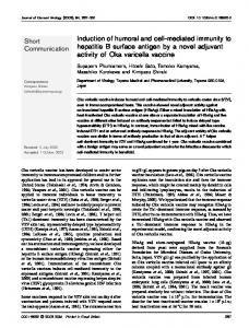Induction of humoral and cell-mediated immunity to ... - CiteSeerX