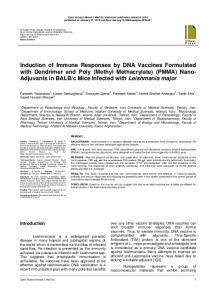 Induction of Immune Responses by DNA Vaccines Formulated with ...