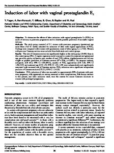 Induction of labor with vaginal prostaglandin E2