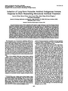 Induction of Long-Term Protective Antiviral ... - Journal of Virology