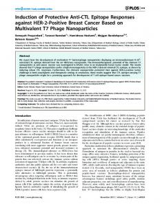 Induction of Protective Anti-CTL Epitope Responses against HER-2 ...