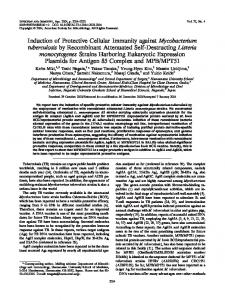 Induction of Protective Cellular Immunity against Mycobacterium ...