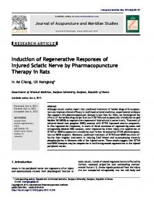 Induction of Regenerative Responses of Injured Sciatic Nerve by ...
