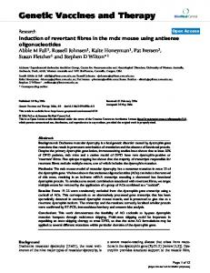 Induction of revertant fibres in the mdx mouse using antisense ...