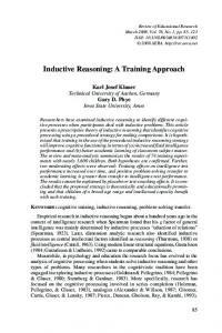 Inductive Reasoning - SAGE Journals