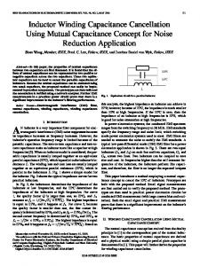 Inductor Winding Capacitance Cancellation Using ... - IEEE Xplore