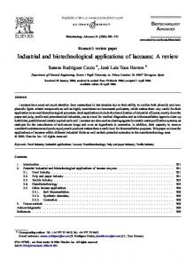 Industrial and biotechnological applications of