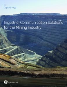 Industrial Communication Solutions for the ... - GE Digital Energy