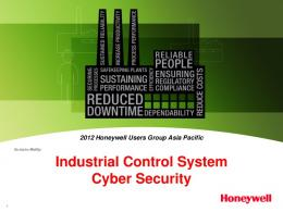 Industrial Control System Cyber Security - Honeywell Process ...