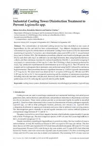Industrial Cooling Tower Disinfection Treatment to ... - Semantic Scholar