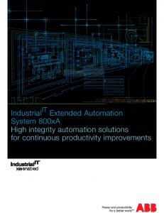 Industrial IT System 800xA Brochure