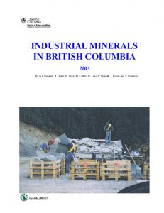 Industrial Minerals in British Columbia - 2003 Review