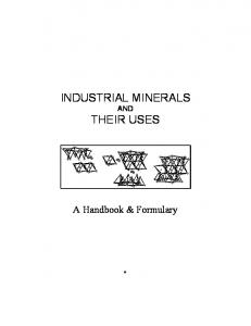 INDUSTRIAL MINERALS THEIR USES