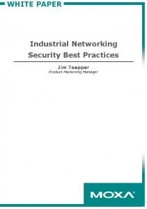 Industrial Networking Security Best Practices - Logic, Inc.
