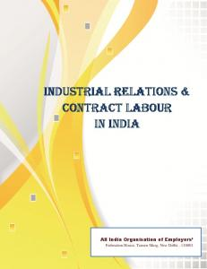 Industrial Relations and Contract Labour in India - Federation of ...