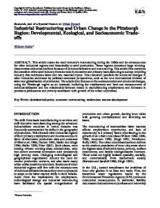 Industrial Restructuring and Urban Change in the Pittsburgh Region ...