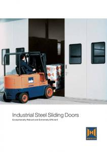 Industrial Steel Sliding Doors