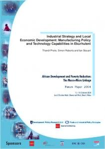 Industrial Strategy and Local Economic Development ... - TIPS