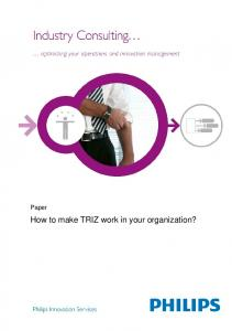 Industry Consulting. . . - Philips Innovation Services