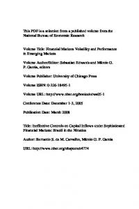 Ineffective Controls on Capital Inflows under Sophisticated Financial ...