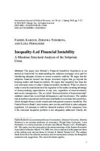 Inequality-Led Financial Instability