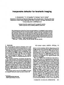Inexpensive detector for terahertz imaging - OSA Publishing