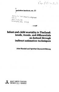 Infant and child mortality in Thailand