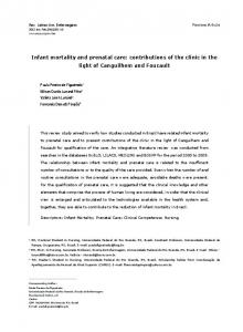 Infant mortality and prenatal care: contributions of