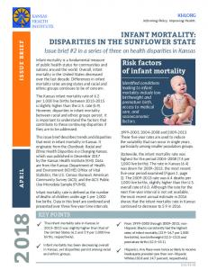 Infant Mortality: Disparities in the Sunflower State - Kansas Health ...
