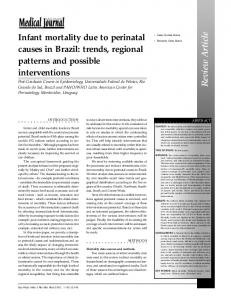 Infant mortality due to perinatal causes in Brazil: trends ... - SciELO