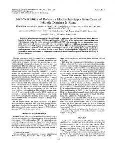 Infantile Diarrhea in Rome - Journal of Clinical Microbiology