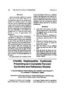 Infantile nephropathic cystinosis presenting as ... - Springer Link