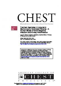 Infection and Airway Inflammation Human Model of