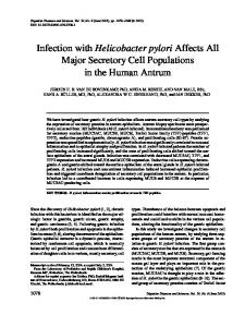 Infection with Helicobacter pylori Affects All Major ... - Springer Link