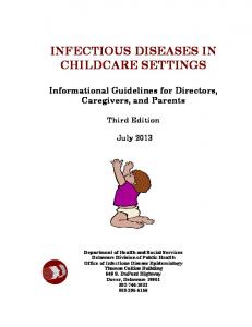 Infectious Diseases in Childcare Settings