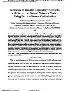 Inference of Genetic Regulatory Networks with ... - Semantic Scholar