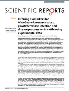Inferring biomarkers for Mycobacterium avium ... - Semantic Scholar