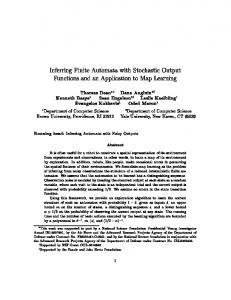 Inferring Finite Automata with Stochastic Output Functions ... - CiteSeerX