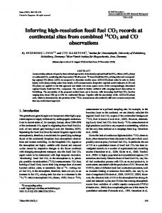 Inferring high-resolution fossil fuel CO2 records at continental sites ...