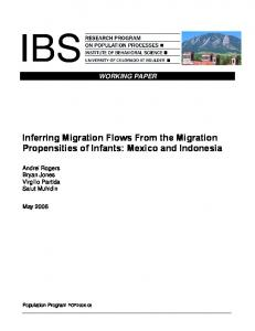 Inferring Migration Flows From the Migration ... - Semantic Scholar