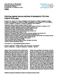 Inferring regional sources and sinks of atmospheric CO2 from GOSAT