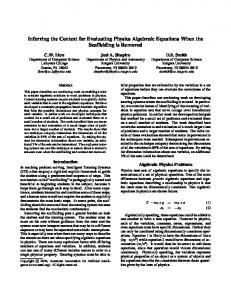 Inferring the Context for Evaluating Physics ... - Rutgers Physics