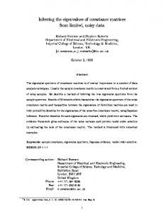 Inferring the eigenvalues of covariance matrices from ... - CiteSeerX